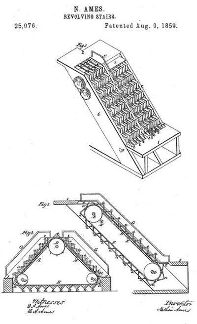 Escalator Revolving Stairs Patent