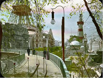 Paris Moving Sidewalk in 1900